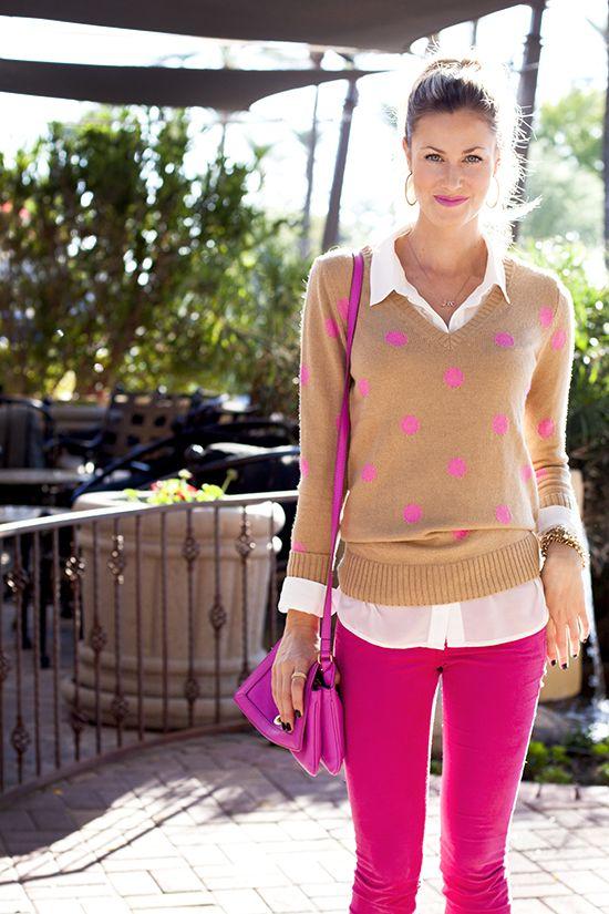 Hot Pink + Tan