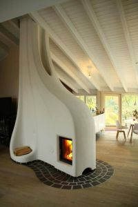 Cob thermal mass stove. | Sustainable Community | Pinterest