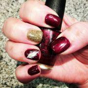 garnet nails and gold