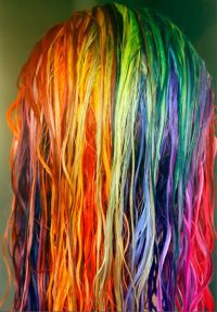 hair,hair dye,dye,rainbow,colorful, | Awesome hair | Pinterest