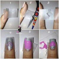 Using scotch tape to create nail designs | HAIR & BEAUTY ...
