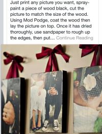 Modge-Podge photo on wood | Crafts | Pinterest