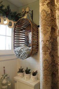 Unique bathroom towel storage~ | Bathrooms | Pinterest