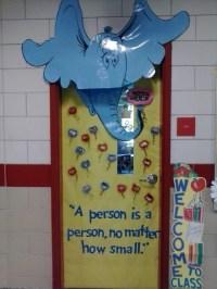 Horton Hears a Who classroom door. | Life as a Librarian ...