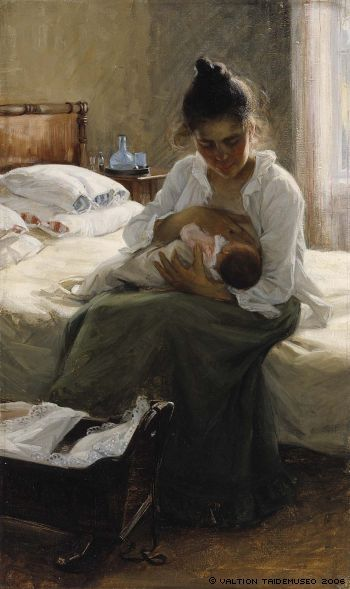 "Elin Danielson-Gambogi (1861 - 1919) ""Mother"" 1893. #embrace #lifeisagift #mothers #art"