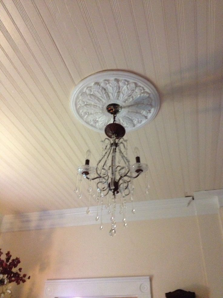 Dining room chandelier  crown molding  Vignettes of My