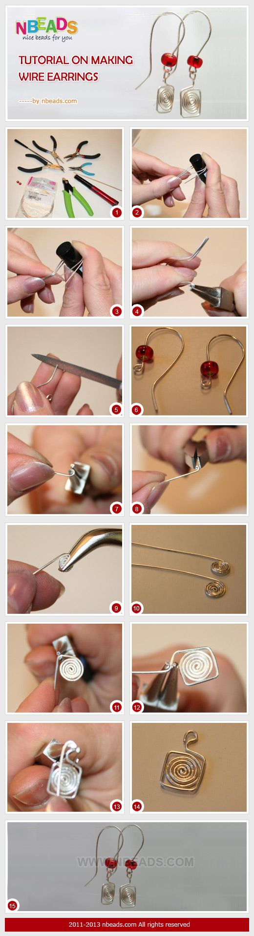 Tutorial on making wire earrings