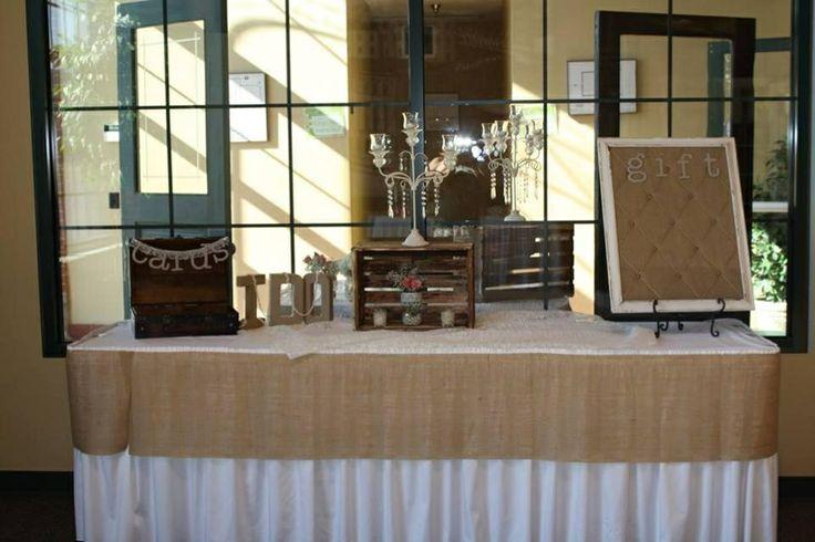 Gift Table - Burlap Rustic Wedding