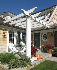 Back porch pergola | outside ideas | Pinterest