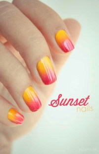 Sunset Nails | Super cute nail art | Pinterest