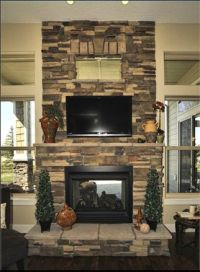 Double sided fireplace indoor/outdoor