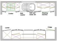 galley kitchen layout | LITTLE HOUSE | Pinterest