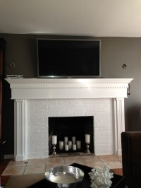 TV over mantle / candle lit fireplace | .:LivingRoom ...