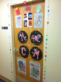 Our dorm door decorations!!