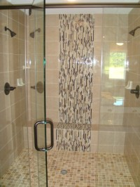 Waterfall design tile | Bathroom | Pinterest