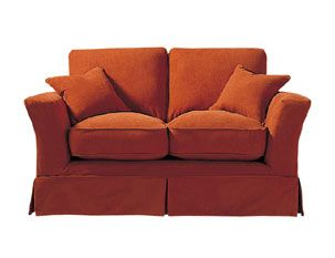 Rust colored sofa