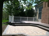 wood deck and stone patio combination | Deck | Pinterest