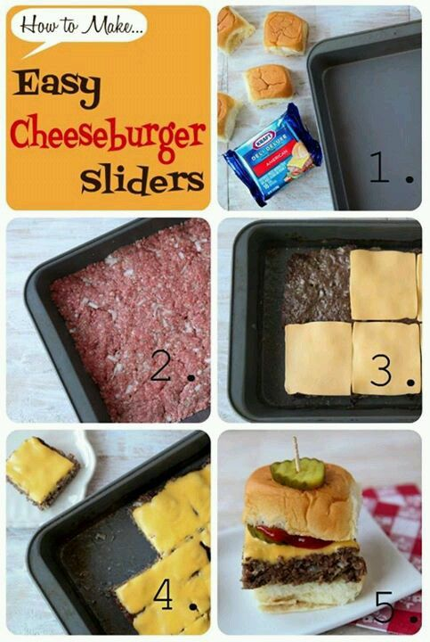Done!! Hamburger sliders. --Super easy and fun! A hit! Baked on 400 for 25 minutes, then added cheese and melted. Tada.