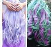 multi colored hair. color ideas