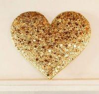 Gold heart wall decor | Gold | Pinterest