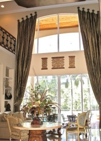 Two story drapes mounted on medallions. | Draperies ...