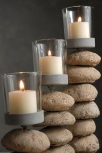 Candle Holders Stone Votive Holders (Set of 3)