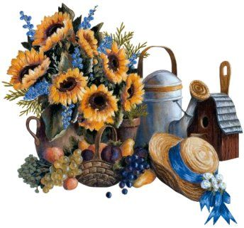 sunflower & daisies