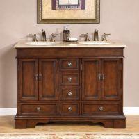 Silkroad Exclusive Mesa 48-inch Double-sink Bathroom Vanity