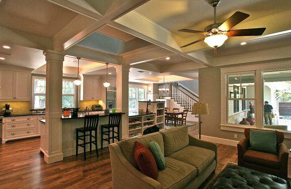 Modern bungalow interior  Craftsman Bungalows  Pinterest