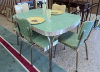 Formica 50s kitchen table and chairs. | My Style | Pinterest
