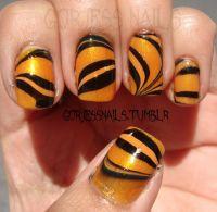 Tiger stripe nails! | Tiger! | Pinterest