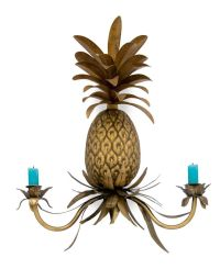 Pineapple wall sconce candleholder
