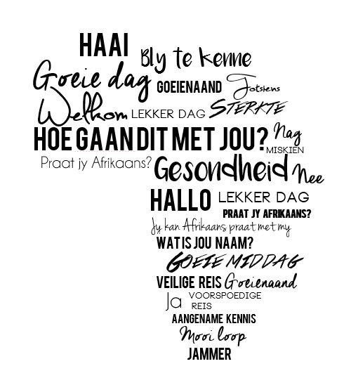 1000+ images about Afrikaans is lekker on Pinterest