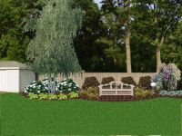 Landscaping against a privacy fence | Landscaping | Pinterest