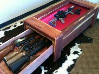 Gun safe in coffee table | Fishing & Hunting | Pinterest