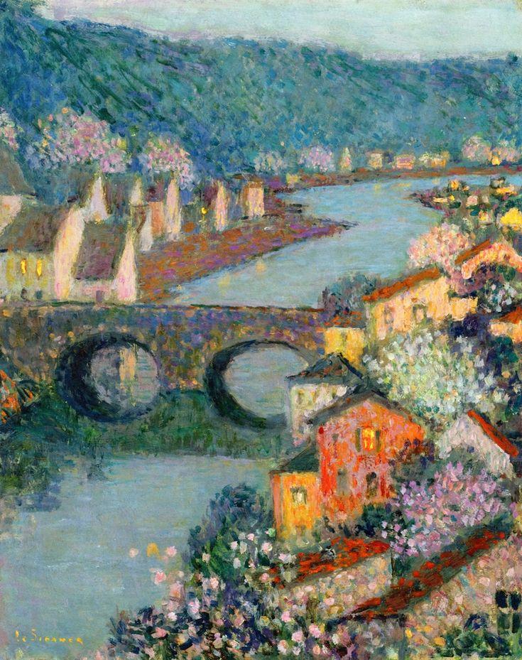 Houses on the River   Henri Le Sidaner