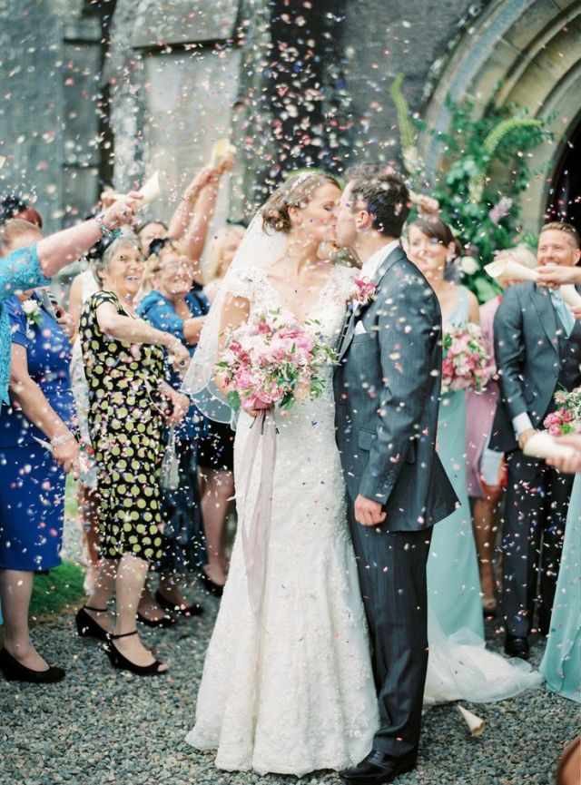 #confetti  Photography: Peaches & Mint - www.peachesandmint.com  Read More: http://www.stylemepretty.com/2014/12/11/intimate-castle-wedding-in-northern-ireland/