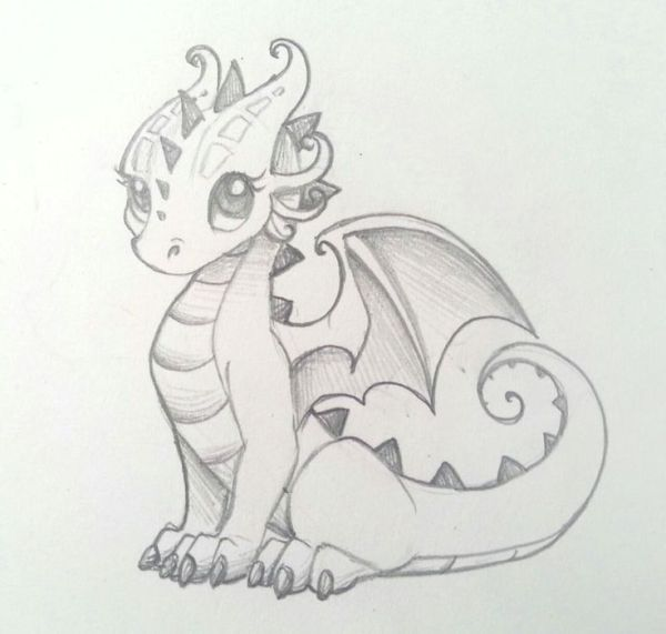 #20. curly girly dragon tattoos