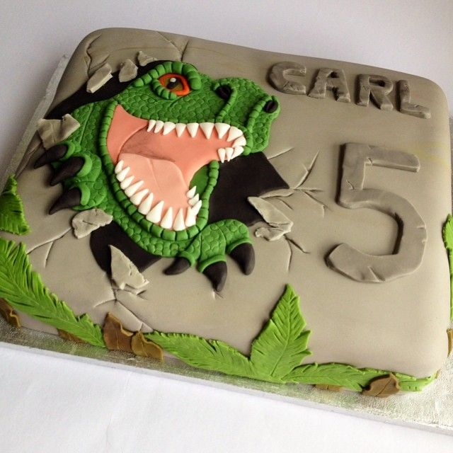T Rex Cake Template