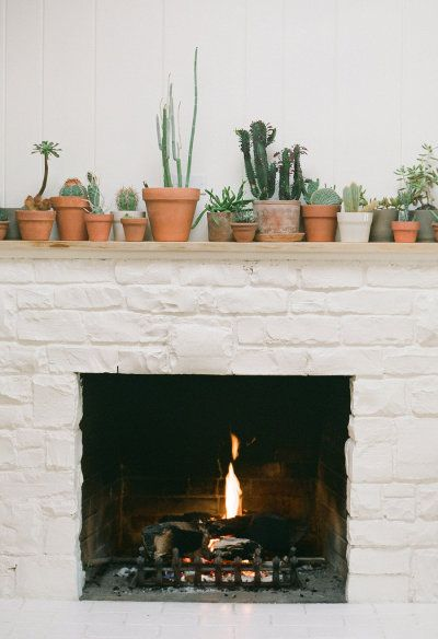 pretty little fireplace decor at Ojai Ranch Inn | Photography by brycecoveyphotography.com |
