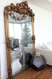 Gilded Floor to Ceiling Mirror | Home is where you hang ...