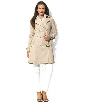 Lauren Ralph Lauren Flared Trench Coat