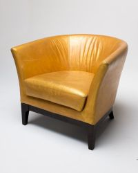 Gold Leather Chair