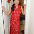 Chinese red silk dress my wedding pinterest