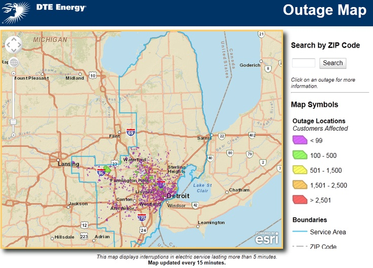 Dte Power Outage Map. Fall Foliage Map 2017. Aws Regions Map. Asia ...
