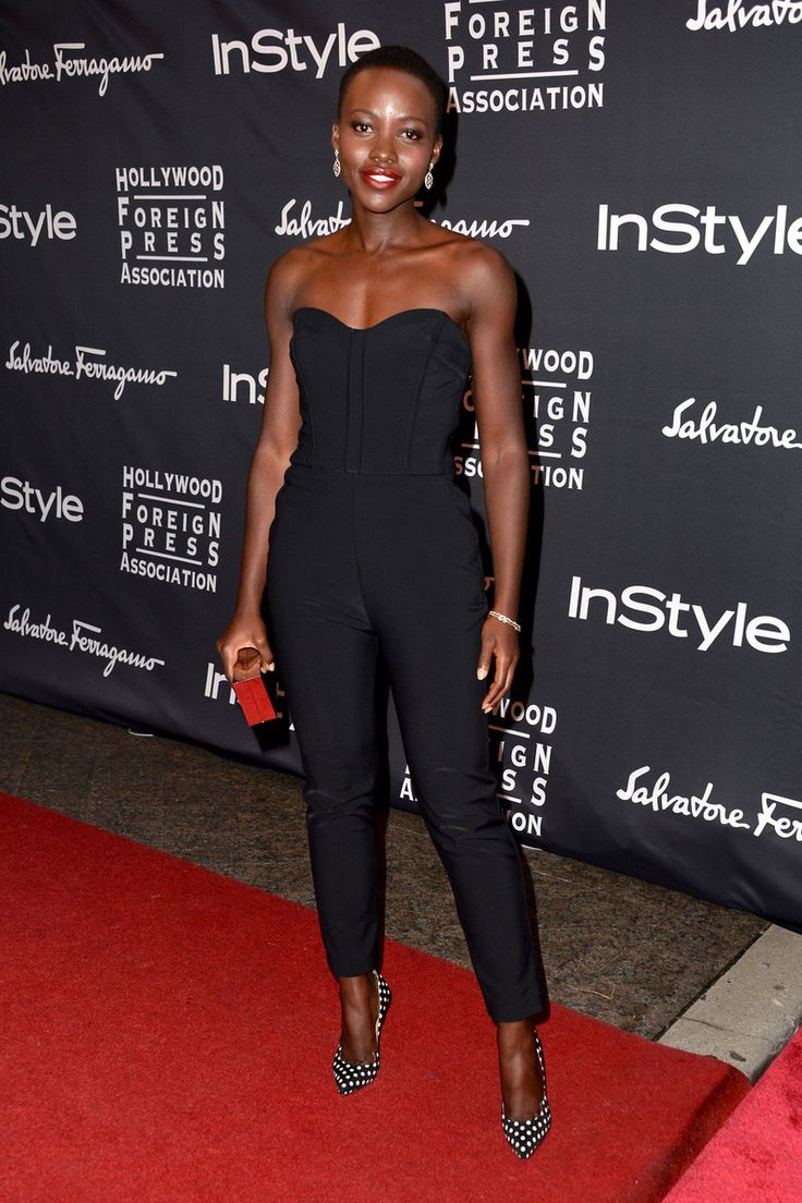 Lupita Nyongo in Veronica Beard at the Toronto International film festival