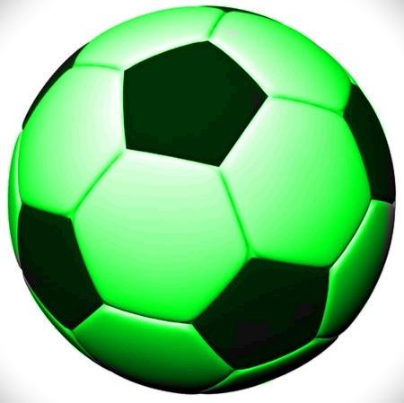 cheap green soccer ball