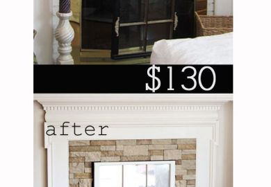 Fireplace Makeover Using Airstone Fireplace Makeovers