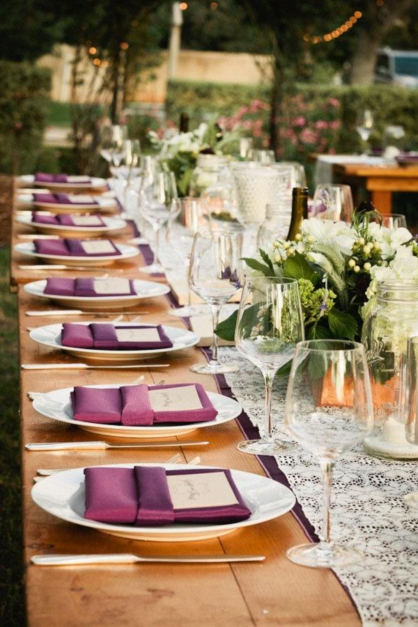 love the purple napkins