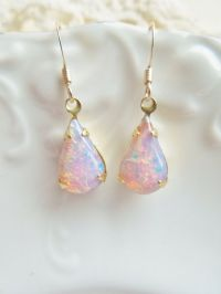 Vintage Fire Opal Earrings | opals | Pinterest